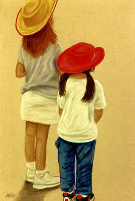 Pastel - Little Cowgirls by Jan Amiss