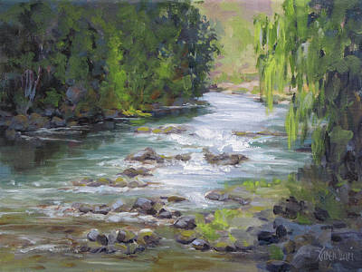 Painting - Little Creek by Karen Ilari