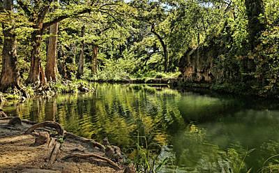 Photograph - Little Cypress Creek by Judy Vincent