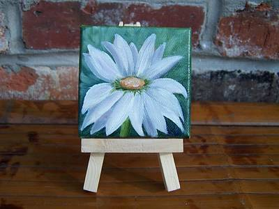 Painting - Little Daisy Do Miniature With Easel - Sold by Susan Dehlinger