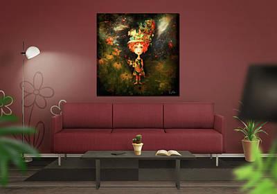 Digital Art - Little Daisy Girl by Richard Ricci
