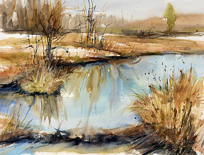Painting - Little Dam by Judith Levins