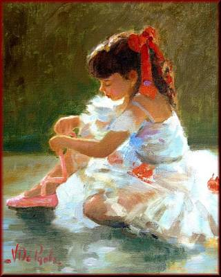 Italiaanse Kunstenaars Painting - Little Dancer by Depaoli