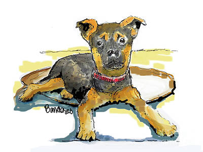 Painting - Little Dawgy by Terry Banderas