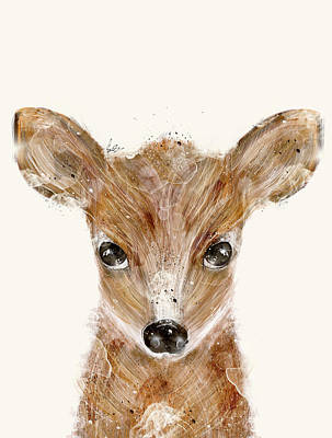 Painting - Little Deer Fawn by Bri B