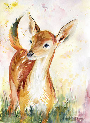 Painting - Little Deer by Melly Terpening