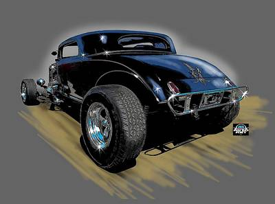 Digital Art - Little Deuce Coupe by Richard Mordecki