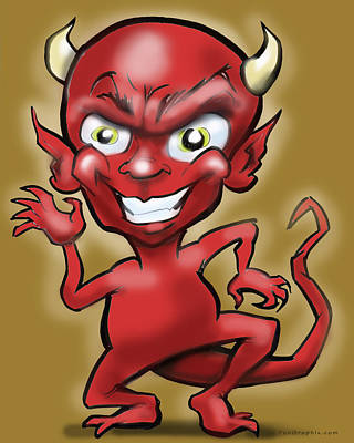 Demon Digital Art - Little Devil by Kevin Middleton