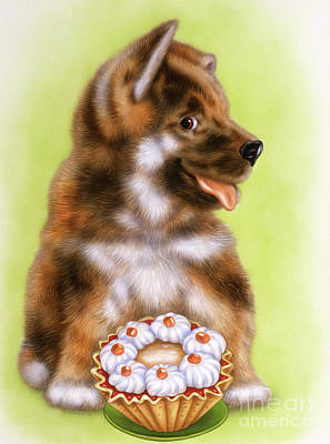 Puppies Mixed Media - Little Dog by Michael Seleznev