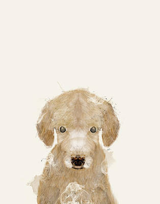 Painting - Little Golden Retriever by Bleu Bri