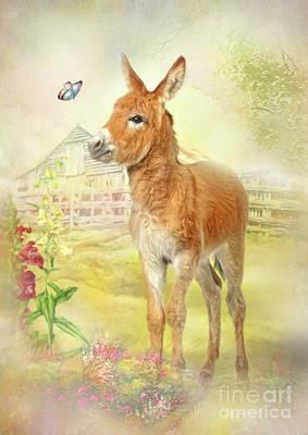 Digital Art -  Little Donkey by Trudi Simmonds