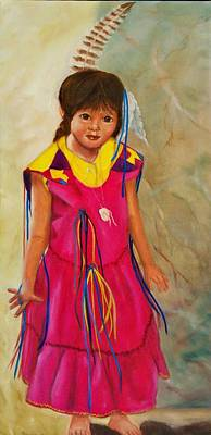 Native American Painting - Little Dove by Joni McPherson