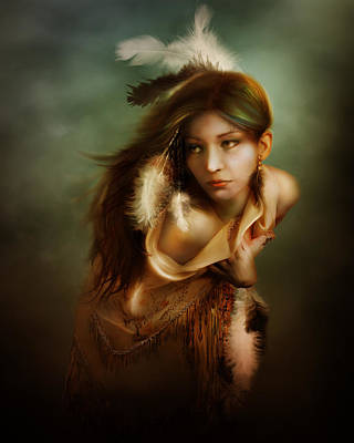 Beadwork Digital Art - Little Dove by Mary Hood