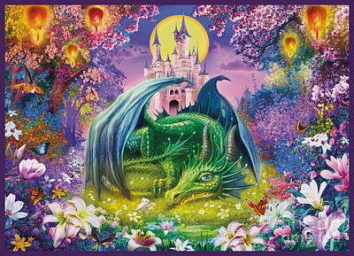 Little Dragon Art Print by Jan Patrik Krasny