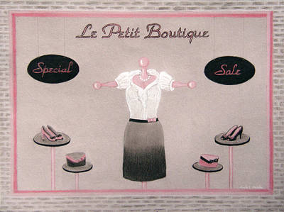 Little Dress Shop Art Print by Nicole I Hamilton