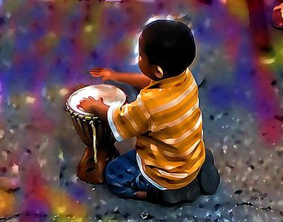 Little Drummer Boy Art Print by James  Mingo