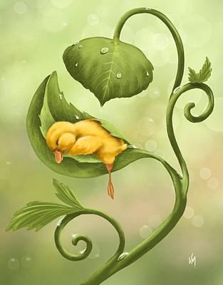 Little Duck Art Print by Veronica Minozzi
