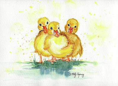 Painting - Little Ducks by Melly Terpening