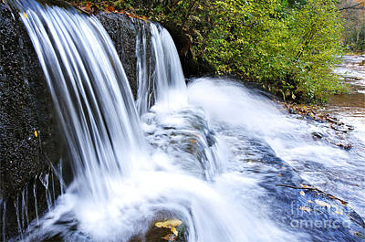 Little Elbow Waterfall And Williams River Art Print by Thomas R Fletcher