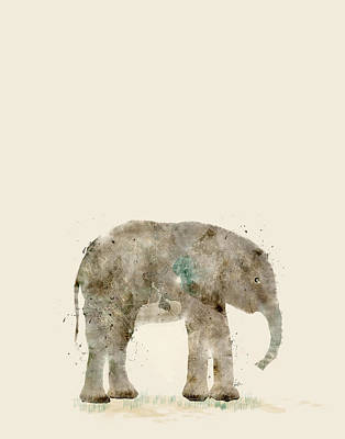 Painting - Little Elephant by Bri B