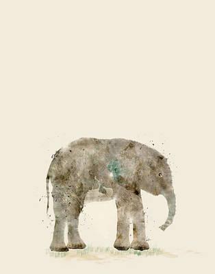 Colourfull Painting - Little Elephant by Bleu Bri