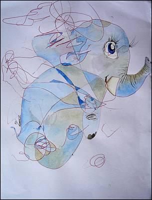 Little Elephant Original by Paulo Zerbato