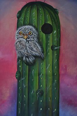 Little Elf Owl Art Print