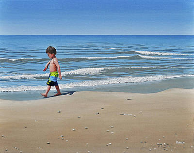Painting - Little Explorer by Kenneth M Kirsch