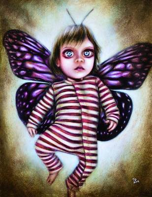 Fairy Painting - Little Fairy by Tiago Azevedo