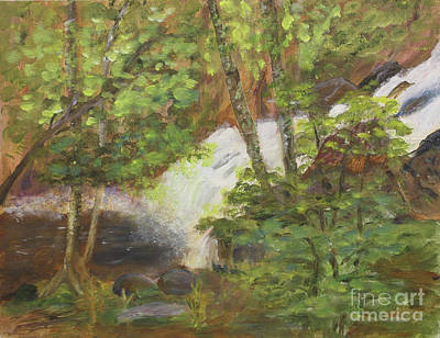 Painting - Little Falls In Jay Vt by Donna Walsh