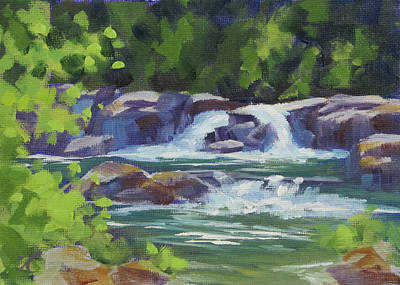 Painting - Little Falls by Karen Ilari