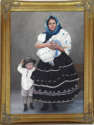 Painting - Little Family by Sandra Nardone