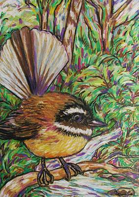 Pastel - Little Fantail by Dianne  Connolly