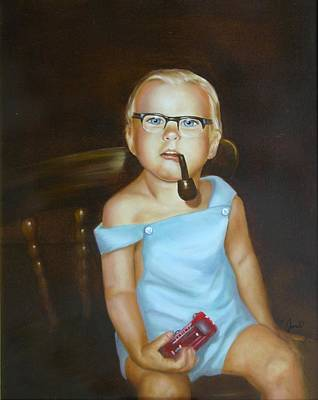 Painting - Little Firefighter by Joni McPherson