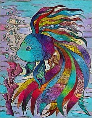 Digital Art - Little Fish 3 by Megan Walsh