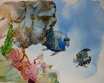 Painting - Little Fish by Donna Acheson-Juillet