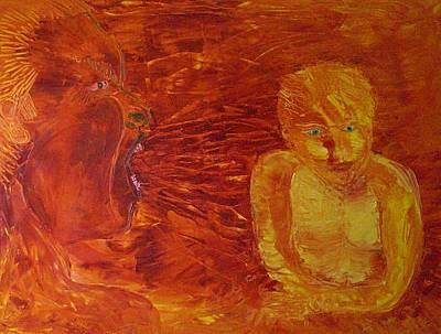 Vox Painting - Little Fish by Gunter  Tanzerel