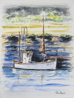 Painting - Little Fishing Boat by William Reed
