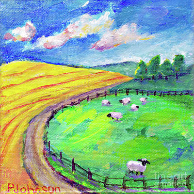 Painting - Little Flock By Peggy Johnson by Peggy Johnson