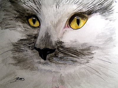Painting - Little Fluffy by Carol Grimes