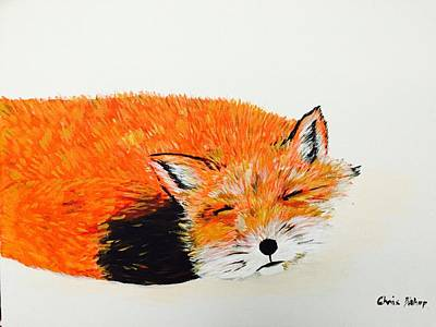 Painting - Little Fox by Chris Bishop