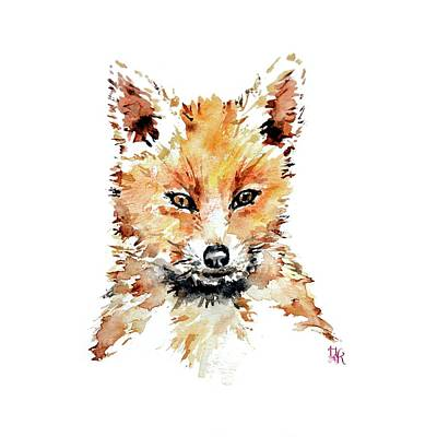Painting - Little Fox Nursery Wall Art by Heidi Kriel