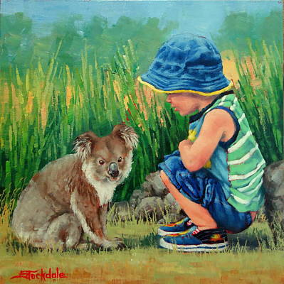 Painting - Little Friends by Margaret Stockdale