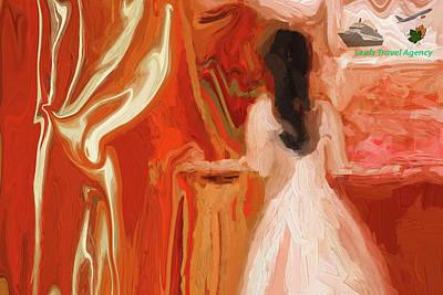 Digital Art - Little Gal Planning A Trip by Sherri's Of Palm Springs