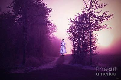 Little Girls Room Mixed Media - Little Girl Along The Lane by KaFra Art