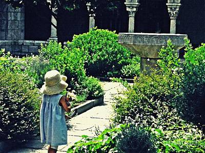 Monasticism Photograph - Little Girl At The Cloisters by Sarah Loft