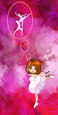 Digital Art - Little Girl-big Dreams by Ericamaxine Price