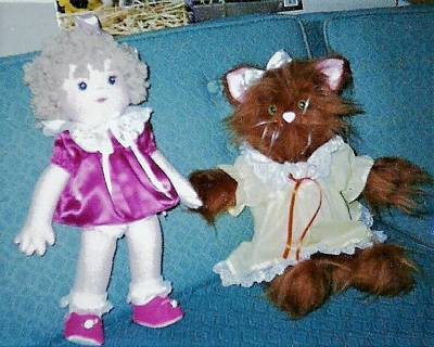 Photograph - Little Girl Doll And Miss Kitty by Denise Fulmer