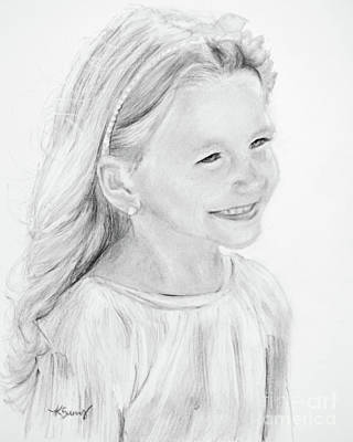 Drawing - Little Girl Edwards by Kate Sumners