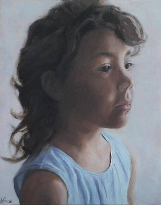 Painting - Little Girl In Shadow by Jackie Hoats Shields